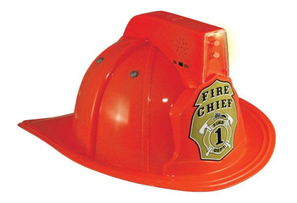 Fire Chief Helmet Red w/lights and sirens