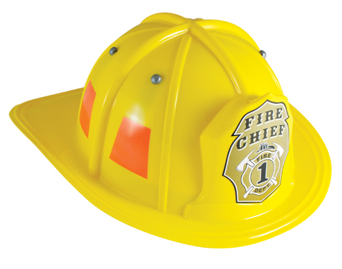 Yellow Firefighter Helmet