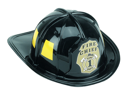 Black Firefighter Helmet